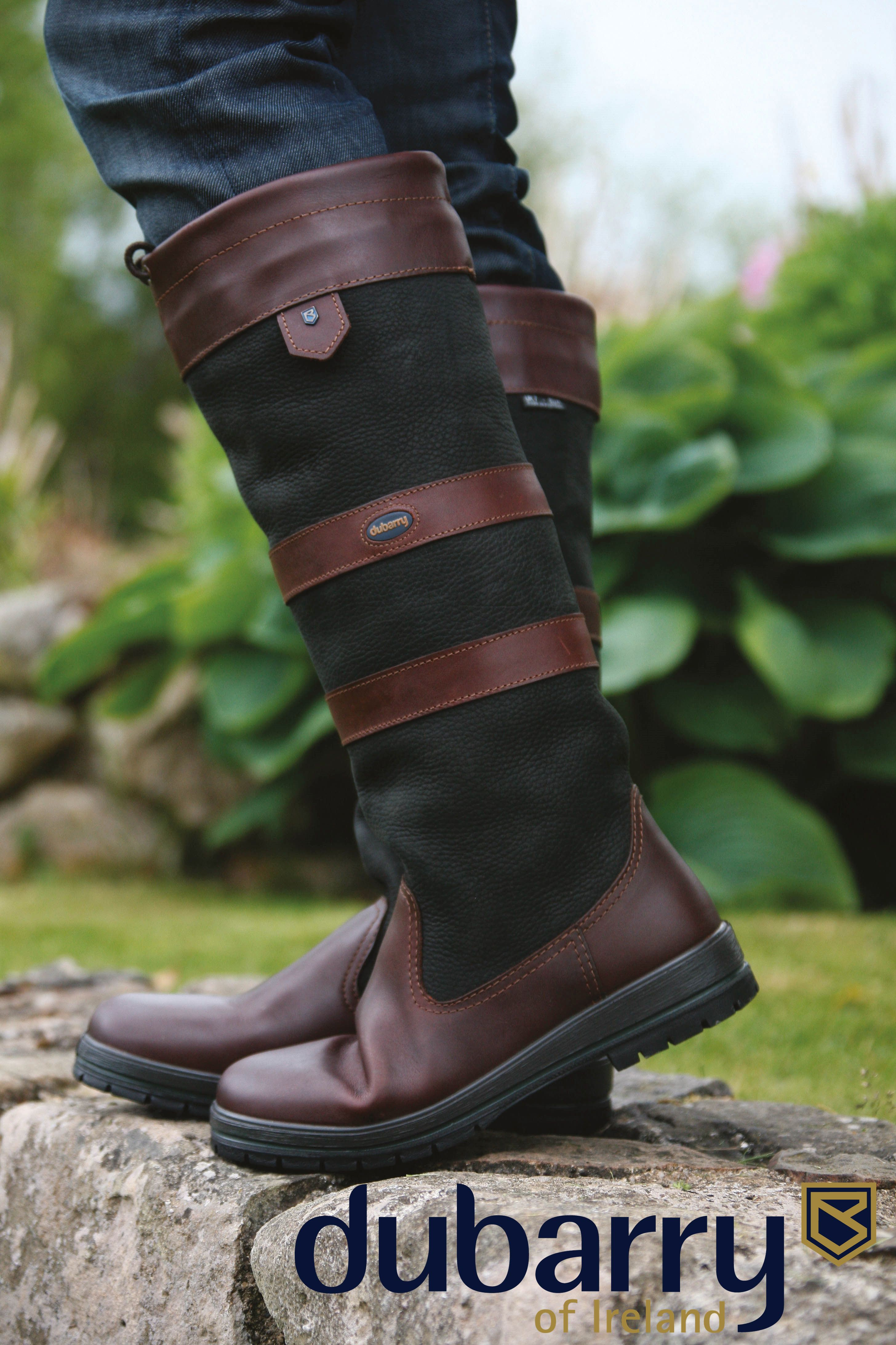 12689173cac The classic signature boot from #Dubarry in Black/Brown.#GoreTex ...