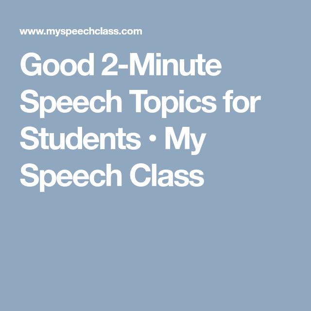 speech topics about life
