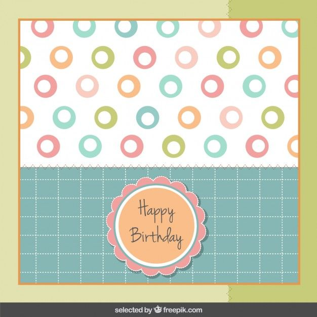 Tarjeta de cumpleaños en colores pastel gift cards Pinterest - greeting card templates