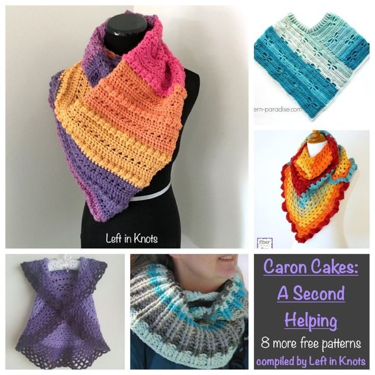 Caron Cakes: A Second Helping | Cake, Crochet and Crochet scarfs