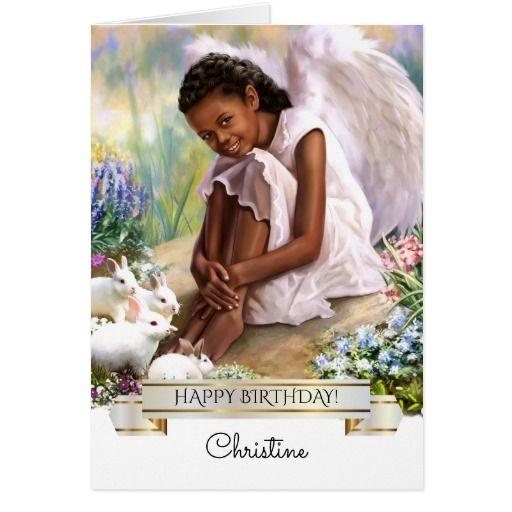 Happy Birthday Little Angel Custom Name Card Zazzle Com Holiday Design Card Easter Blessings Easter Greetings