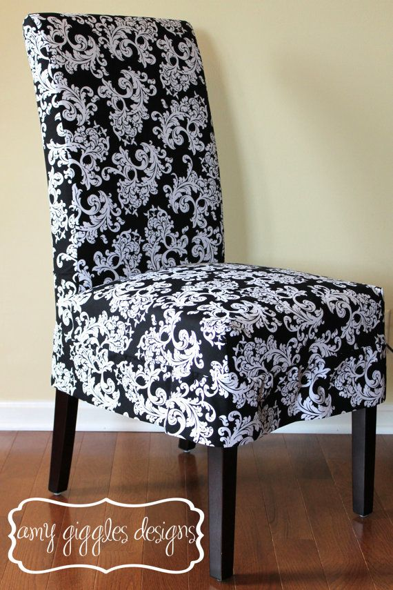 Black Parsons Chair Slipcovers Marshalls Furniture Chairs And White Baroque Slipcover Diy