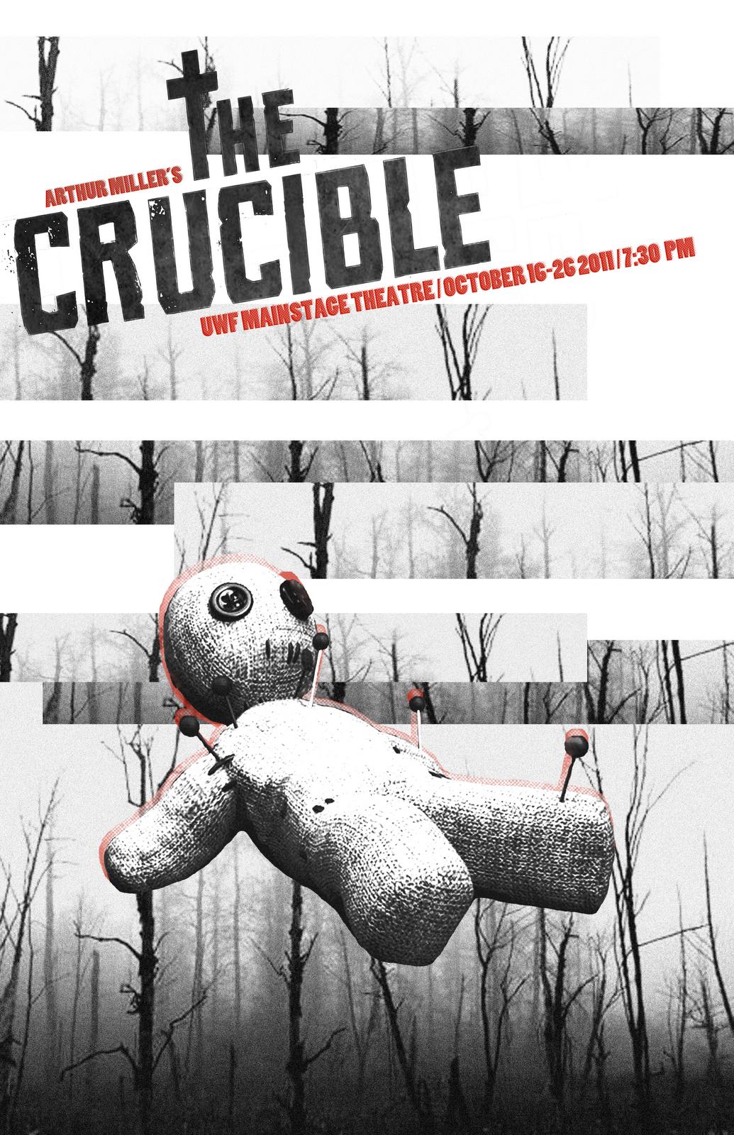 Art Chantry theater poster The Crucible Honoring Art