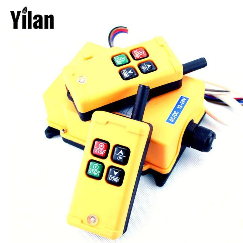 Hs 4 Remote Switch 2 Transmitter 1 Receiver Speed Control Hoist Industrial Wireless Crane Radio Remote Switch Contr Control System Control4 Light Accessories