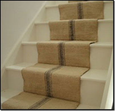 Superieur I Think This Stair Runner Looks Like Grain Sack Or Burlap With Stripe  Painted On   I Like It
