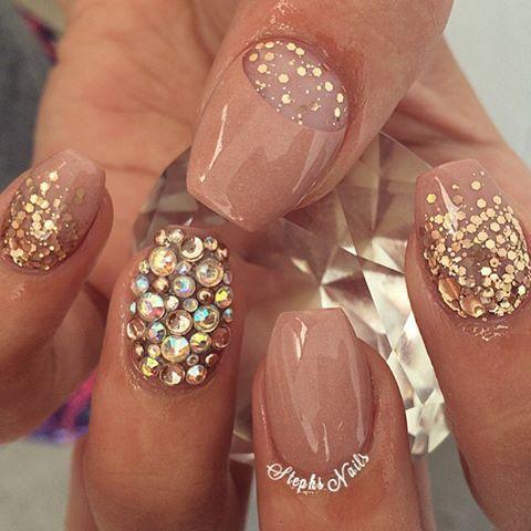 kimskie  acrylic nails sparkle nails glitter nails