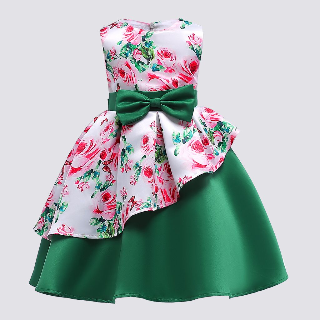 Toddler Girls Sleeveless Summer Princess Bowknot Kids Baby Party Wedding Dress