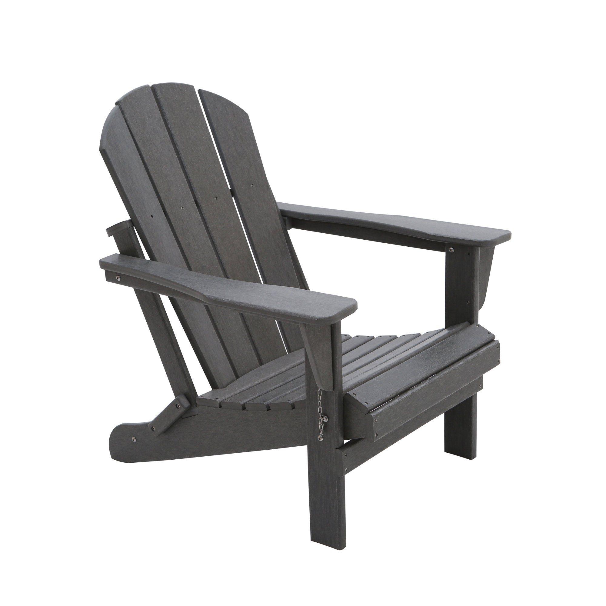 Braxton Outdoor Folding Poly Adirondack Chair Set Of 2 Gray Walmart Com Walmart Com In 2020 Folding Adirondack Chairs Adirondack Chair Adirondack Chairs Patio