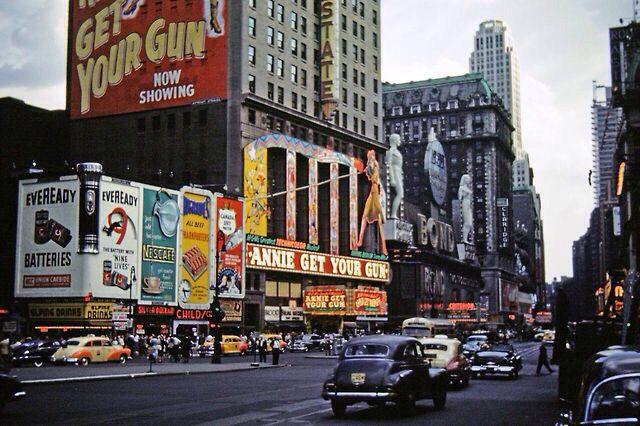 """Résultat de recherche d'images pour """"broadway pictures from the 50s"""""""