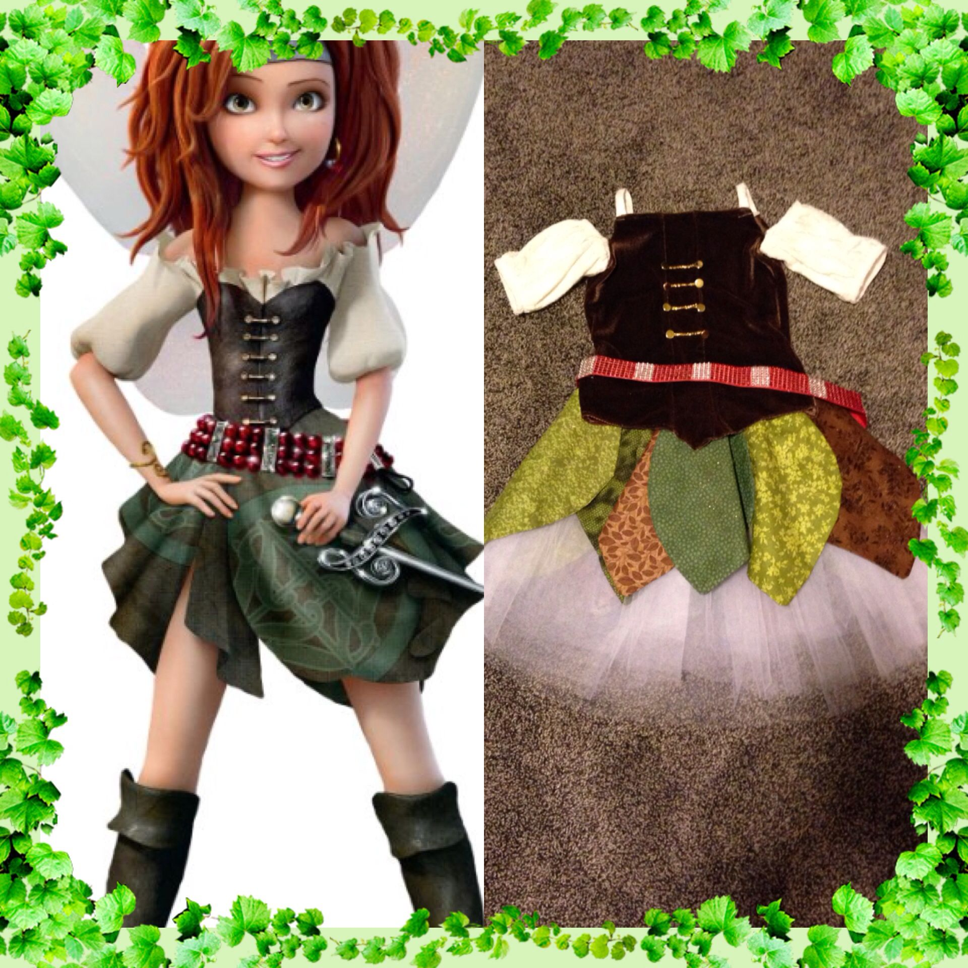 Pirate Zarina Disney Fairies Fairy Pixie Fancy Dress Up Halloween Child Costume
