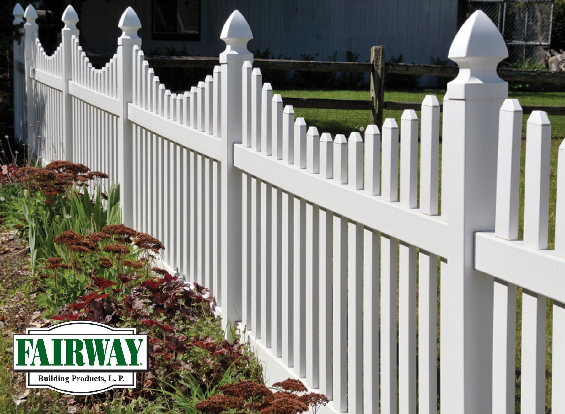 vinyl picket fence front yard. Fairway Vinyl Scalloped Picket Fence Front Yard F