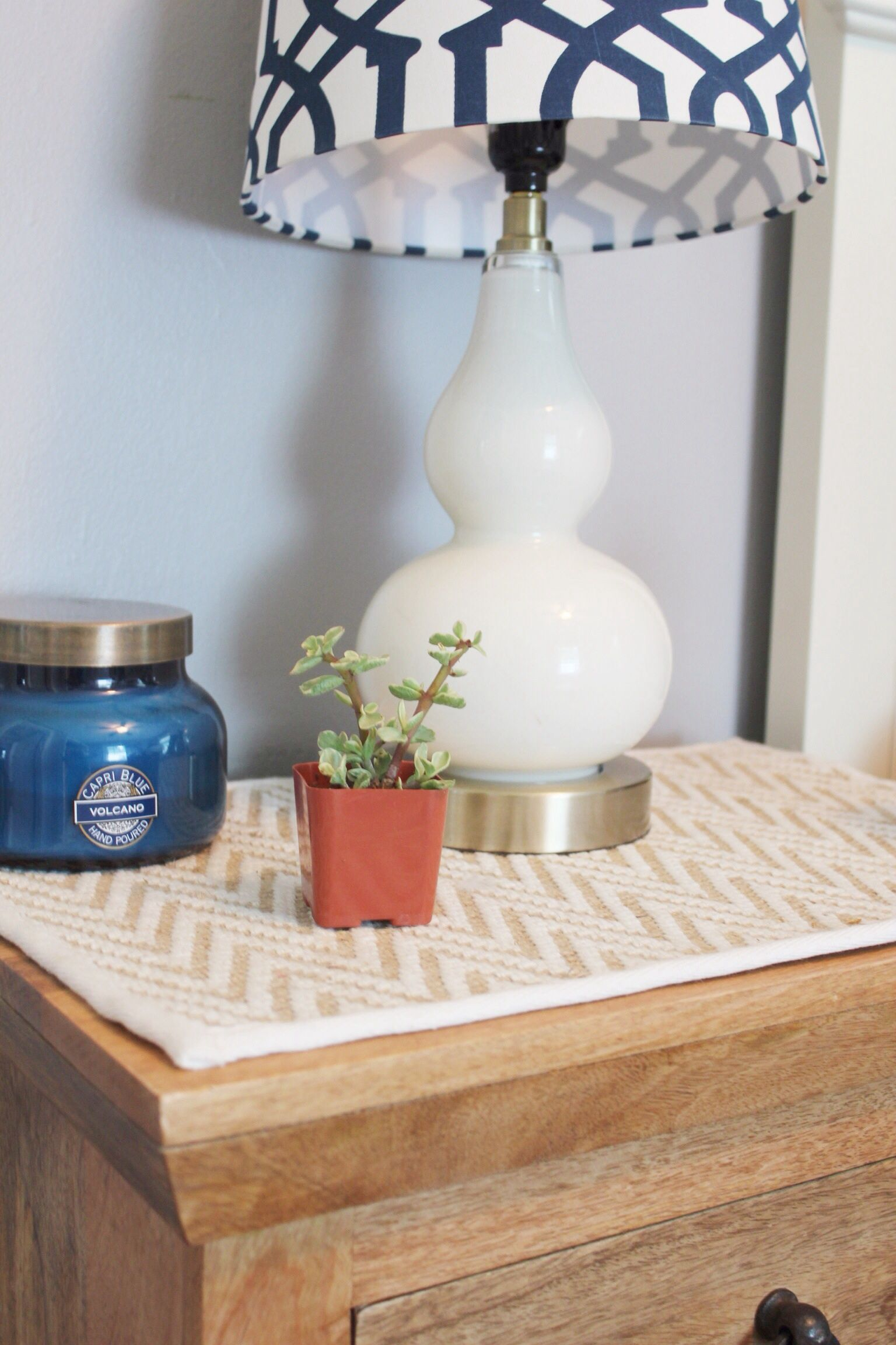 Use A Placemat To Protect Your Nightstand And End Tables