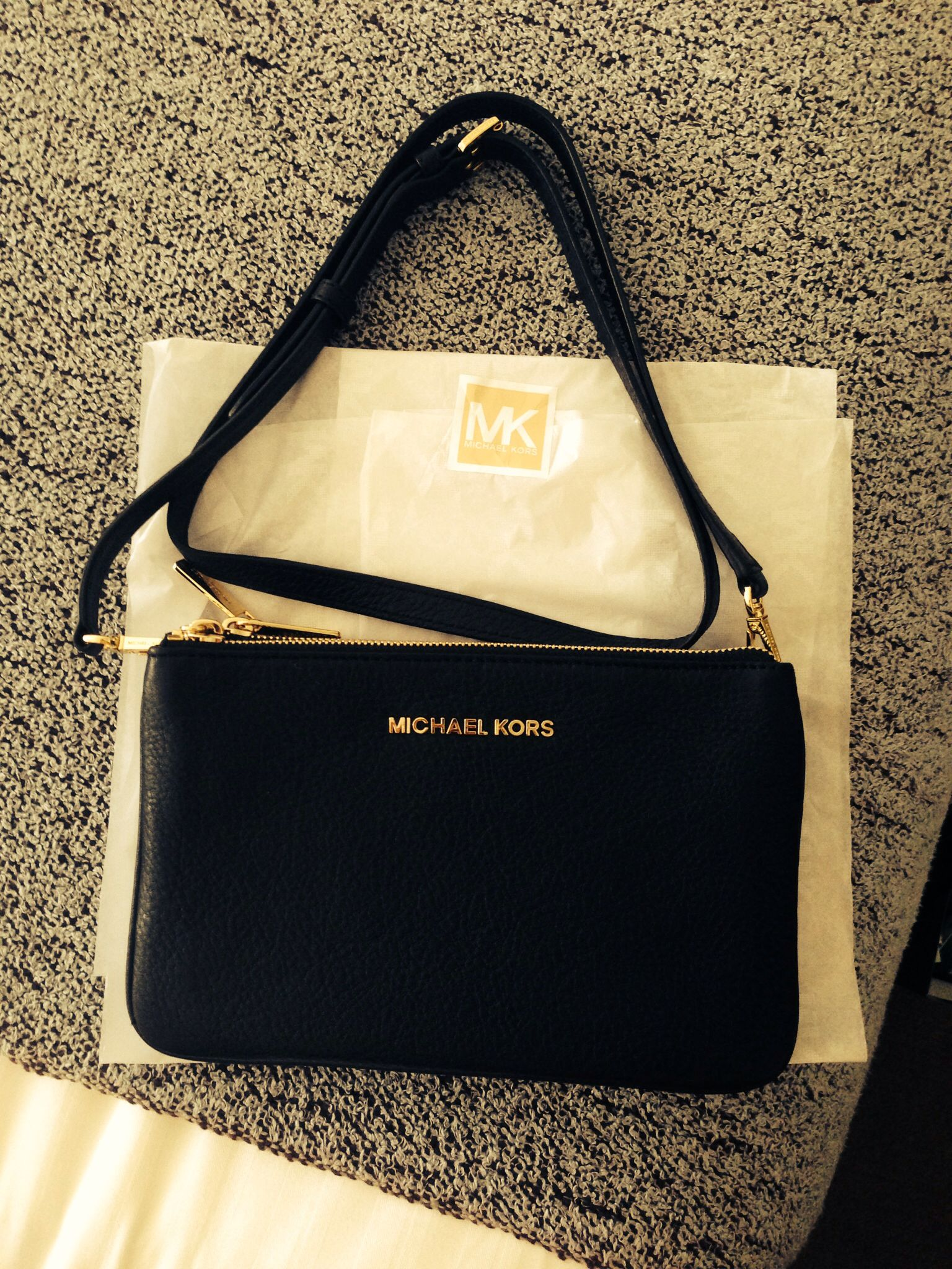 b8d6e89983dad6 Maybe I should be poorly more often... Love my Michael Kors Crossbody Bag!  A present whilst shopping in San Fransico today. Such a spoilt wifey! Xx