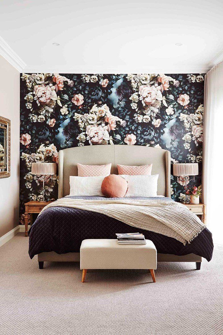Best Room Recipe How To Do A Bold Floral Wallpaper Feature 400 x 300