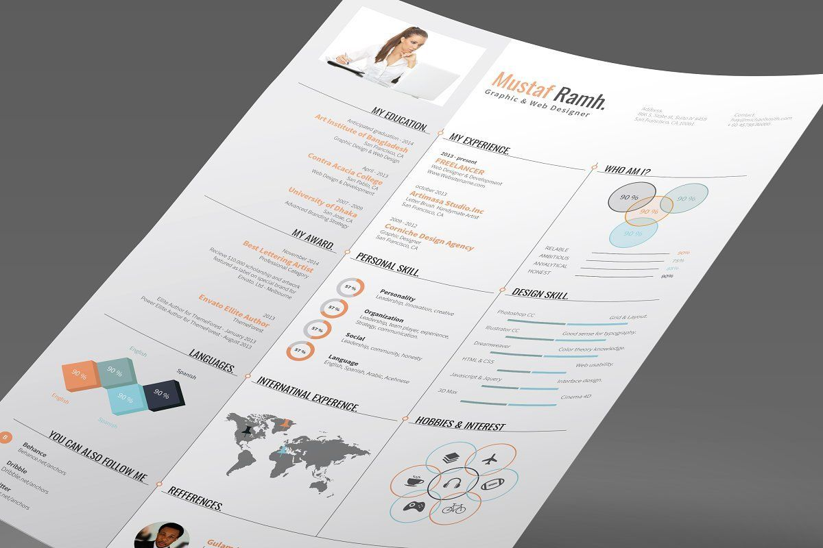 Ad Infographic Resume 03 by DesignGhar on Creative Market If you need anything  Ad Infographic Resume 03 by DesignGhar on Creative Market If you need anything