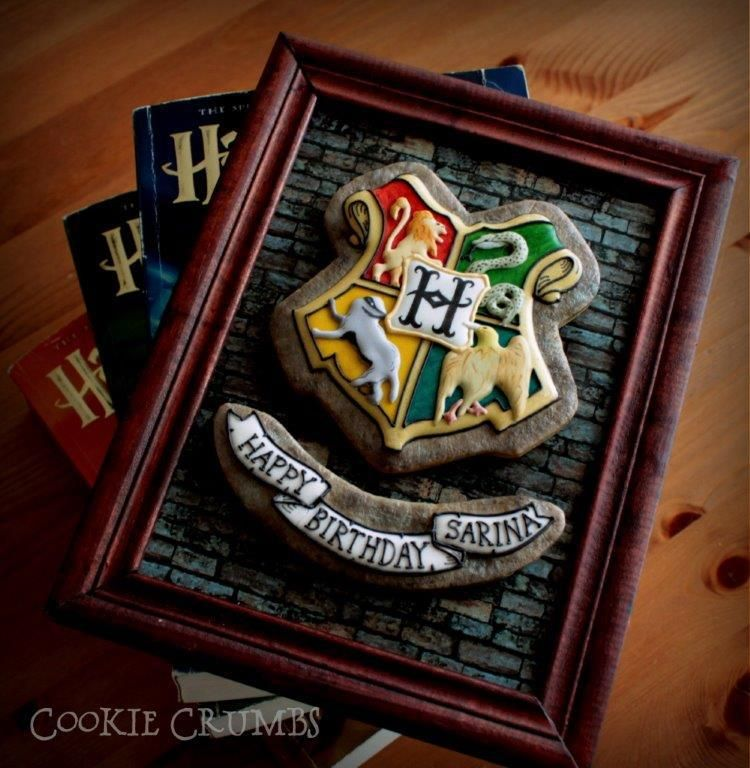 Framed Hogwarts Cookies | Cookie Connection