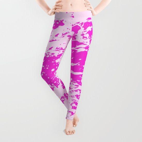 pink paint splatter leggings