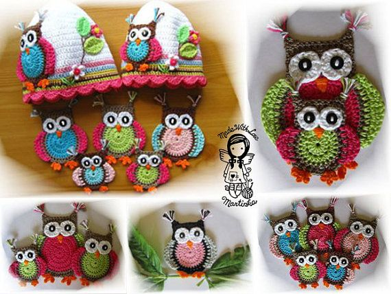 Crochet pattern applique jolly owl crafting pinterest