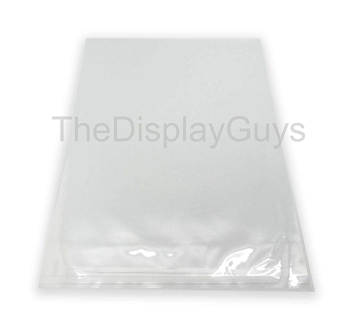 The Display Guys 100 Pcs 12 7 16 X 18 1 4 Clear Self Adhesive Plastic Bags For 12 X 18 Inches Picture Poster Photo Framin Glue Crafts Adhesive Plastic Bag
