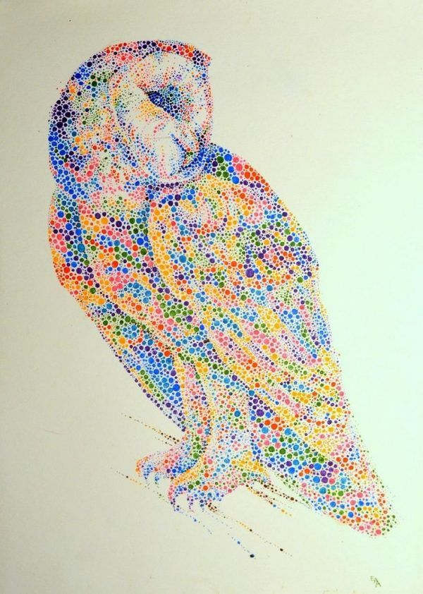 Animal Paintings Made From Hundreds Of Colored Dots Animal