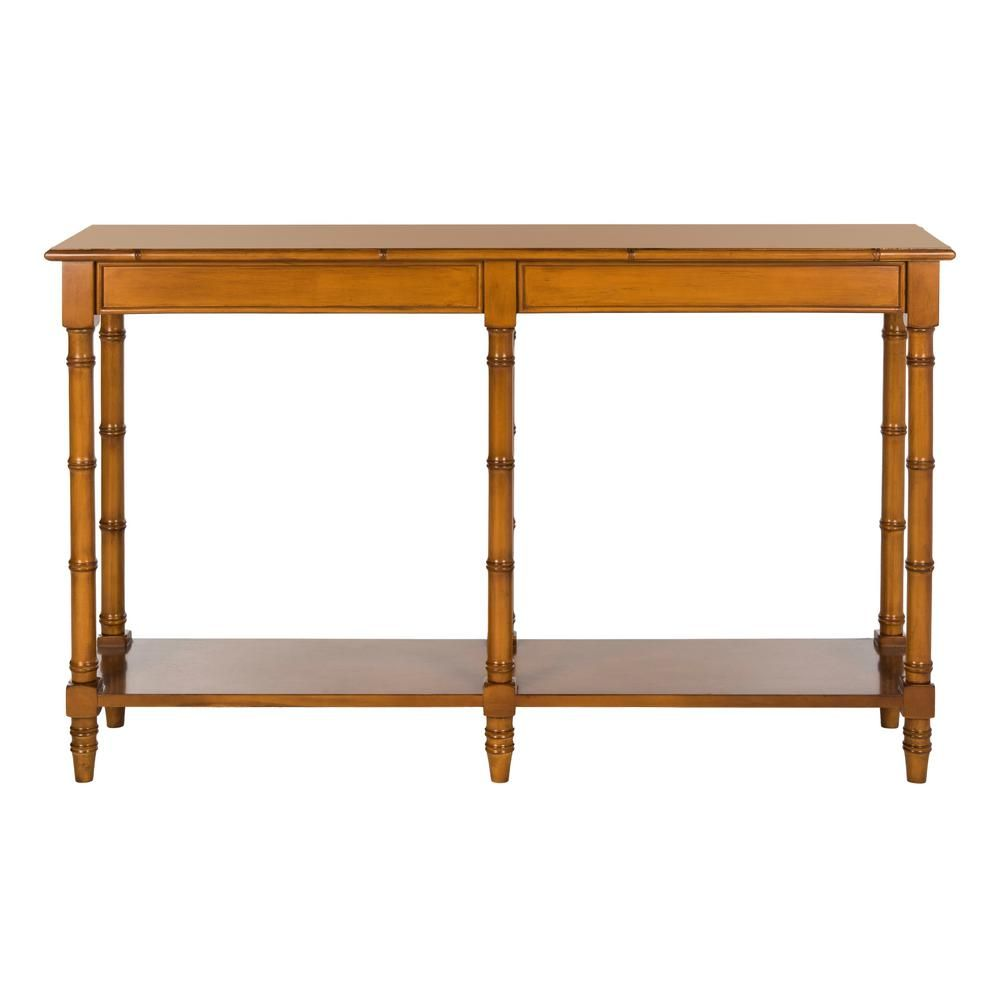 Astonishing Safavieh Noam Brown Bamboo Console Table Cns3500B The Home Gmtry Best Dining Table And Chair Ideas Images Gmtryco