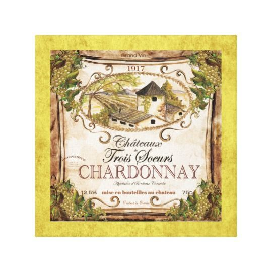 Vintage Wine Label Wrapped Canvas | Vintage wine, Wine wall art and ...