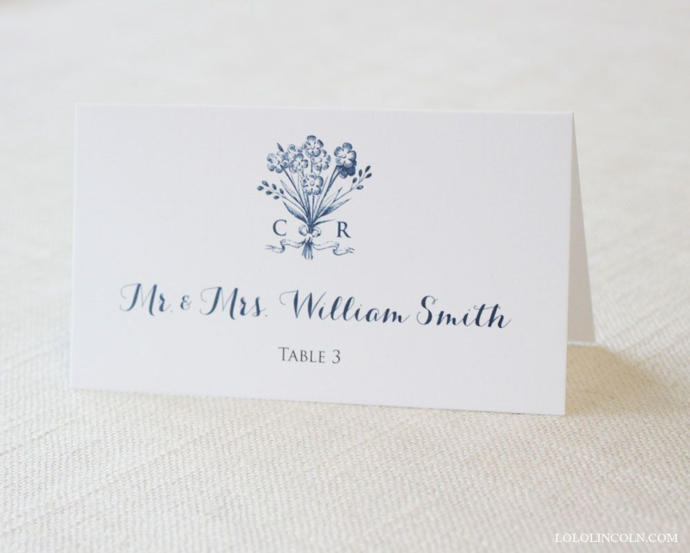 Bouquet Place Cards / Soft, southern, and sophisticated. The perfect addition to your special day.  lololincoln.com