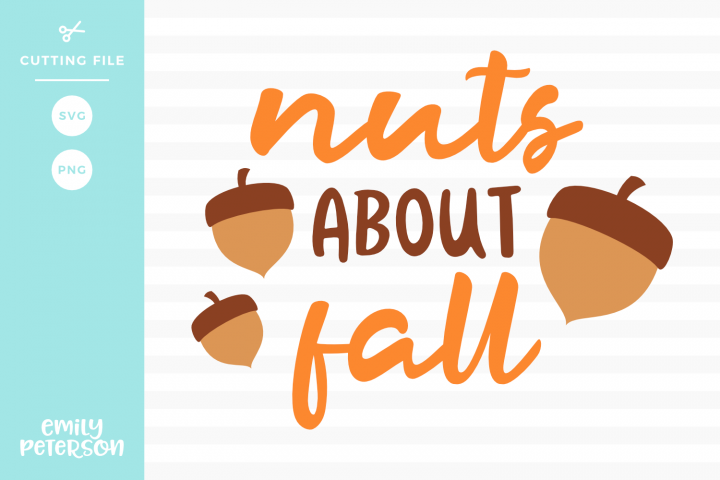 Nuts About Fall Svg Dxf Eps Png