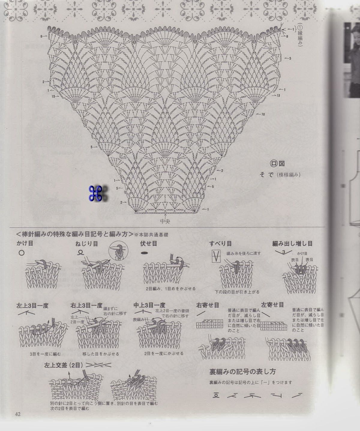 Tunica Picos manga corta Patron - Patrones Crochet | Crochet ...