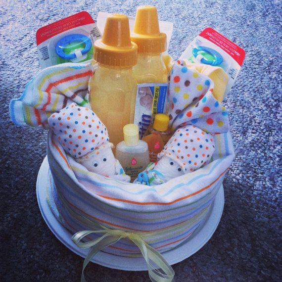 Diaper cake, Babyshower Centerpiece, New mom gift, New baby gift for Baby Boy, Baby Girl or Unisex  on Etsy, $20.00