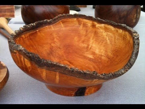 Wood Turning Natural Edge Pecan Bowl Youtube Wood