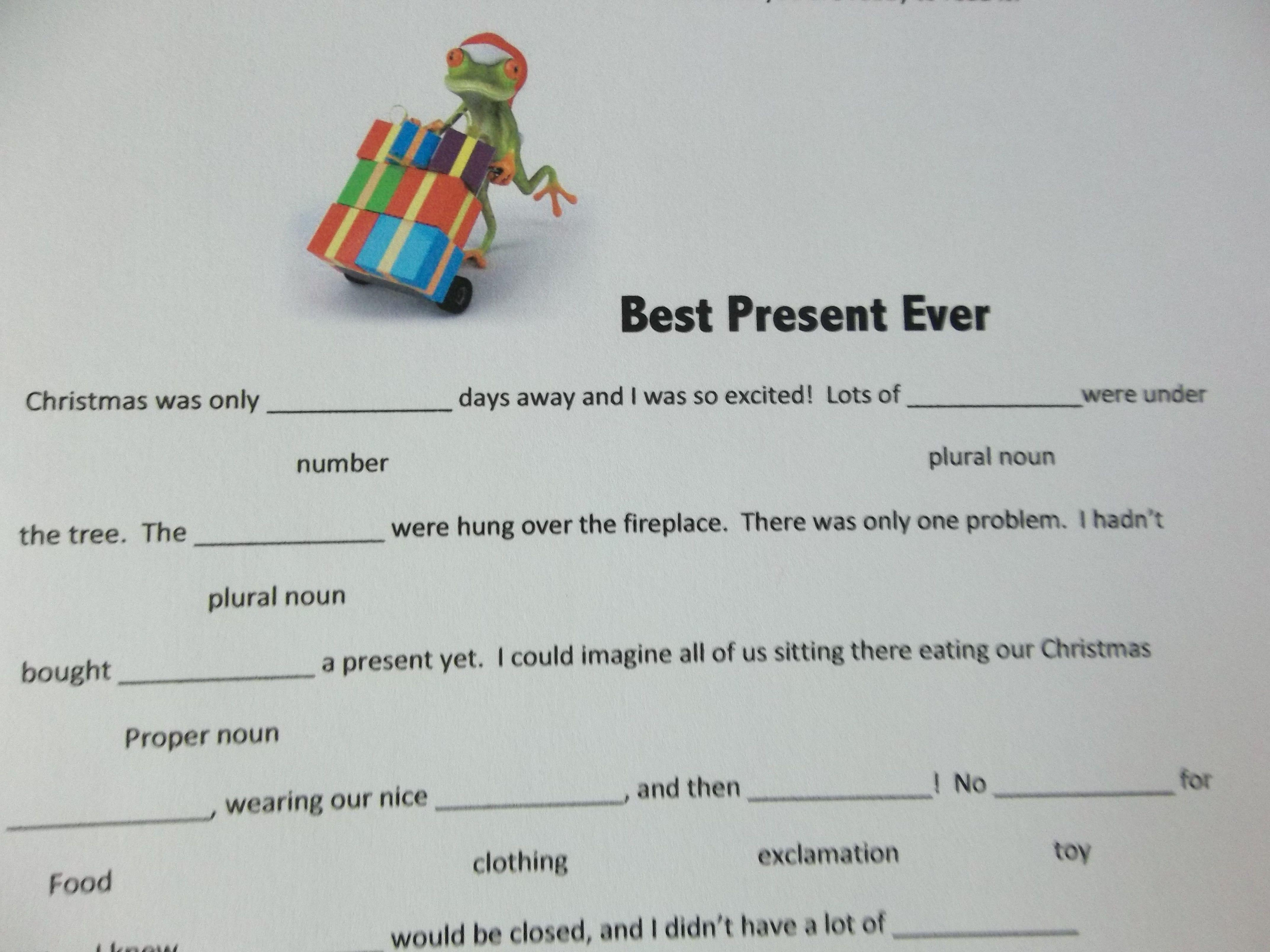 Printable Christmas Madlibs Christmas Mad Libs
