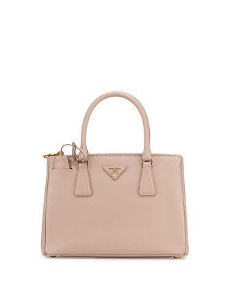 c7446f940304 Prada Saffiano Lux Small Double-zip Tote Bag Blush (cammeo ...