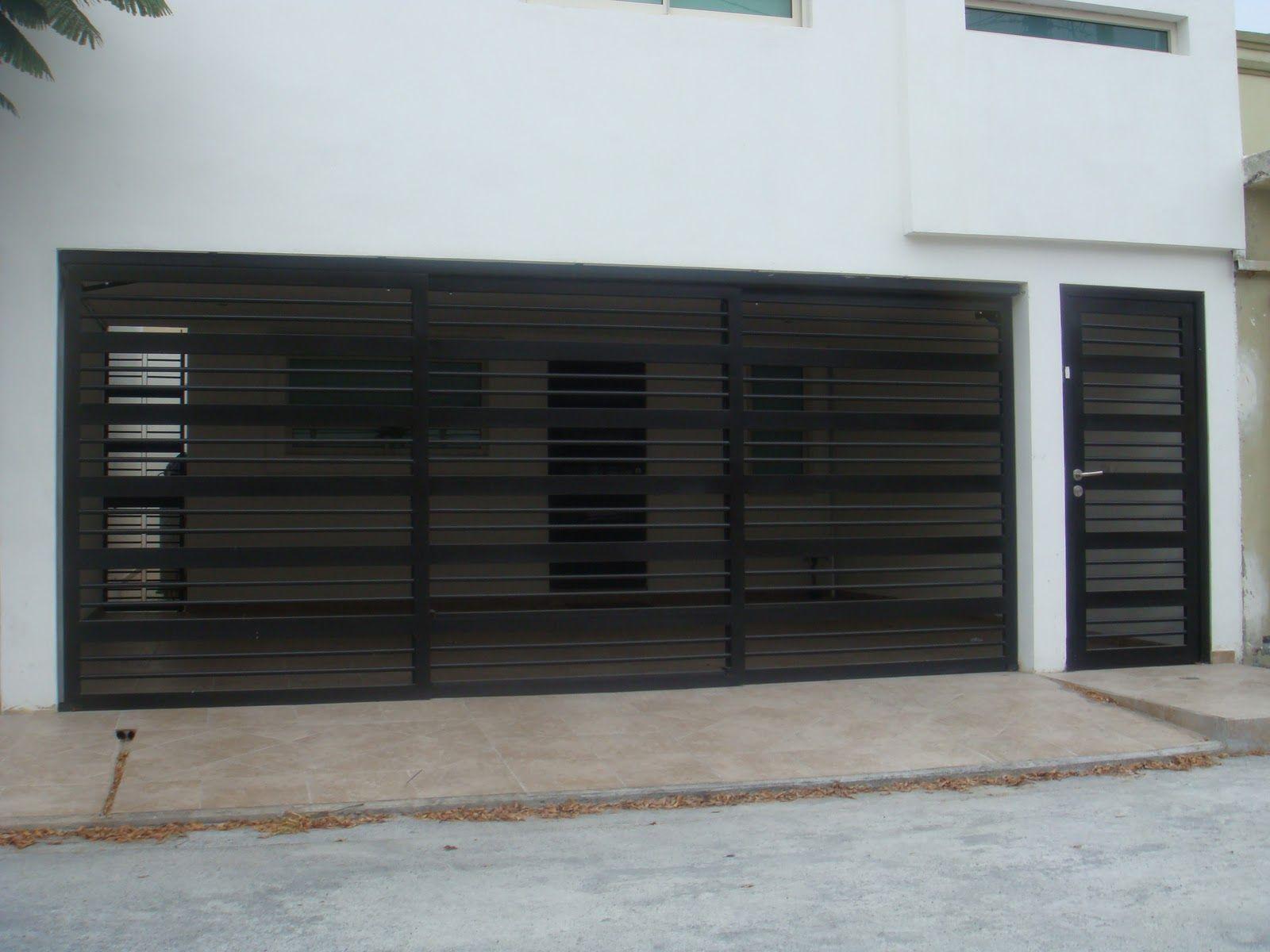 Barandal 7 casas pinterest barandales puertas de for Cocheras minimalistas