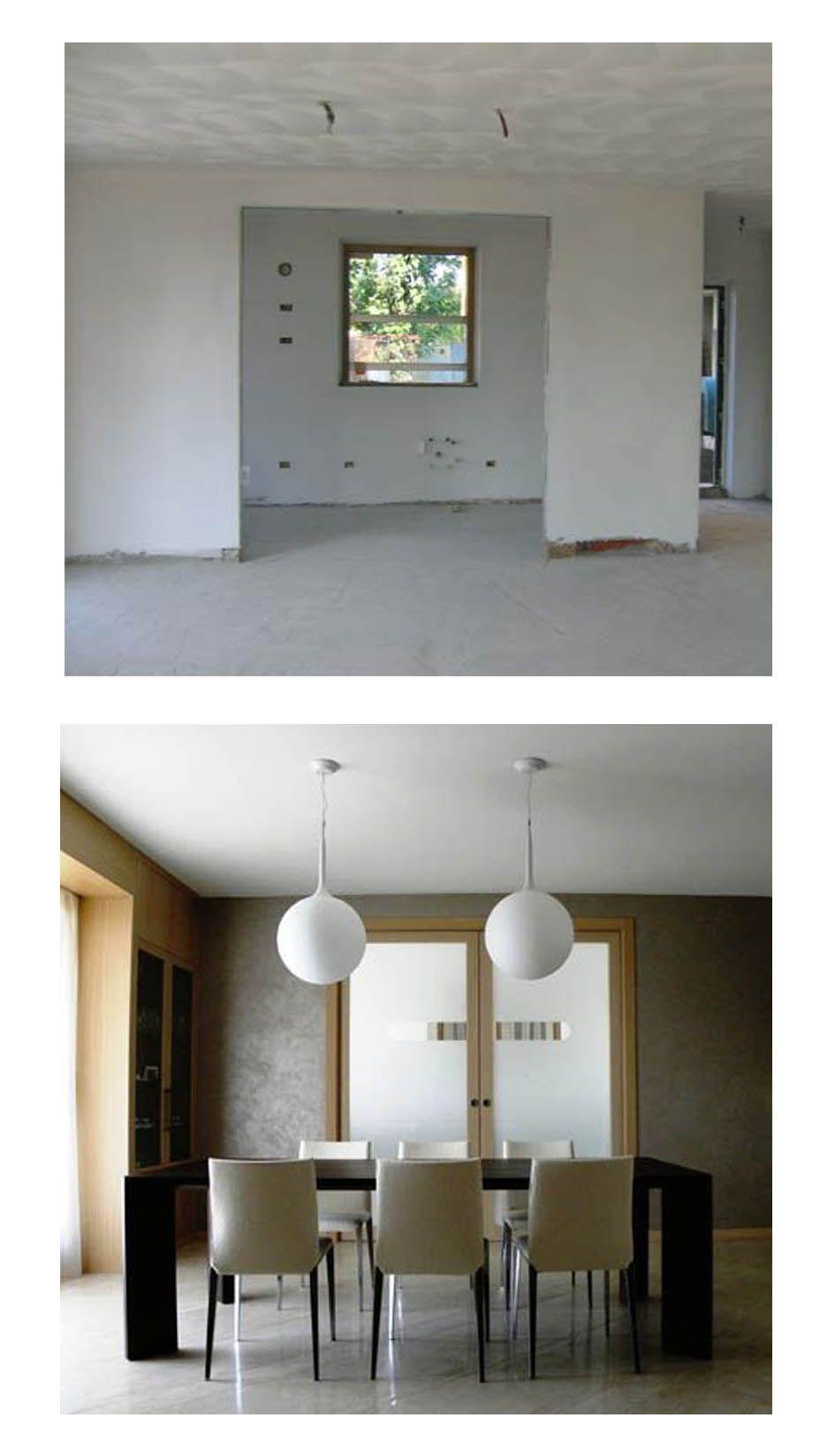 Distribuzione interna e arredo nuova villa a schiera - Il soggiorno ...