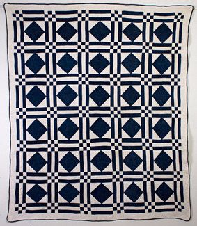 Diamonds in Squares Quilt: Circa 1880 Not sure if this is blue and white but if I make it, will be!