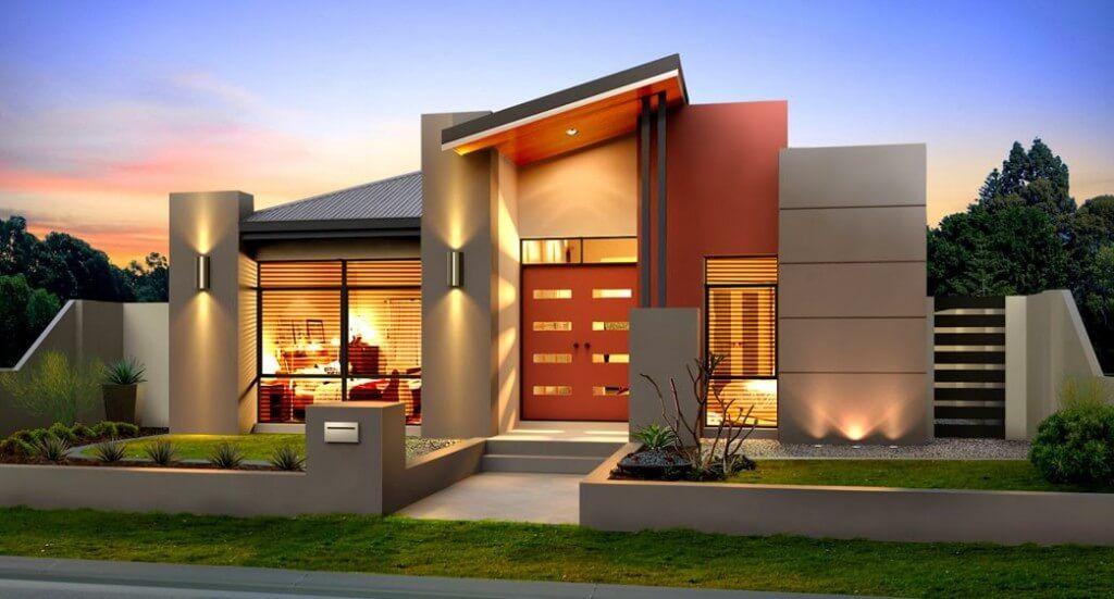 Desain Eksterior Rumah Mewah 1 Lantai  inspirasi ide design rumah 1 lantai konsep minimalis modern