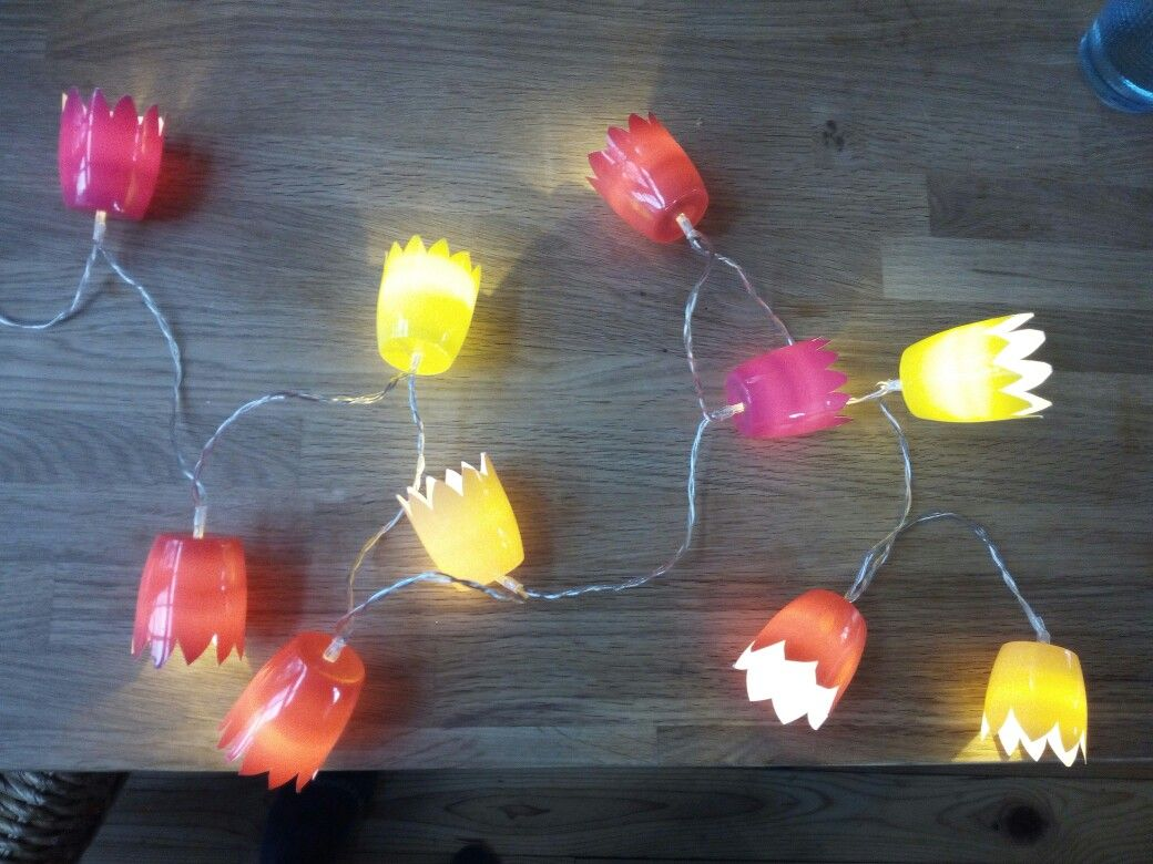 Fruchtzwerge Lichterkette upcycling kinderzimmer | upcycling ...