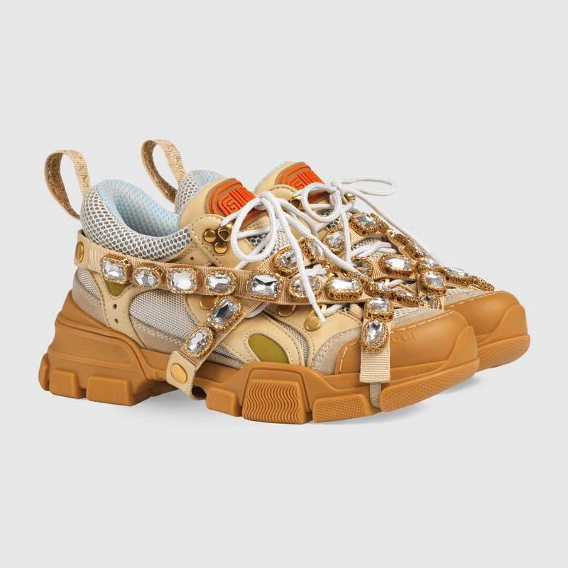 25612135626 Gucci Flashtrek sneaker with removable crystals Detail 2