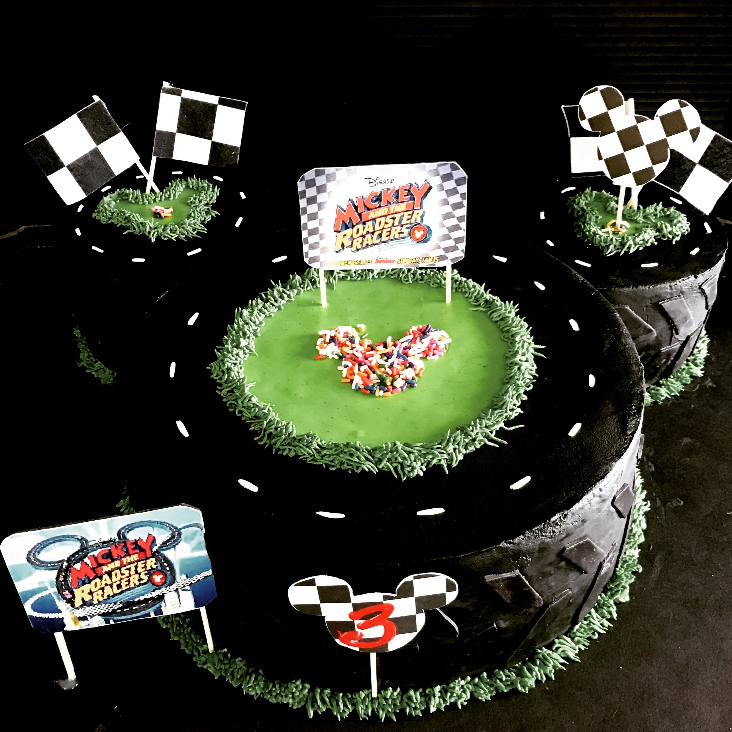 Mickey Mouse Road A Racers Themed Happy Birthday Cake Sweet