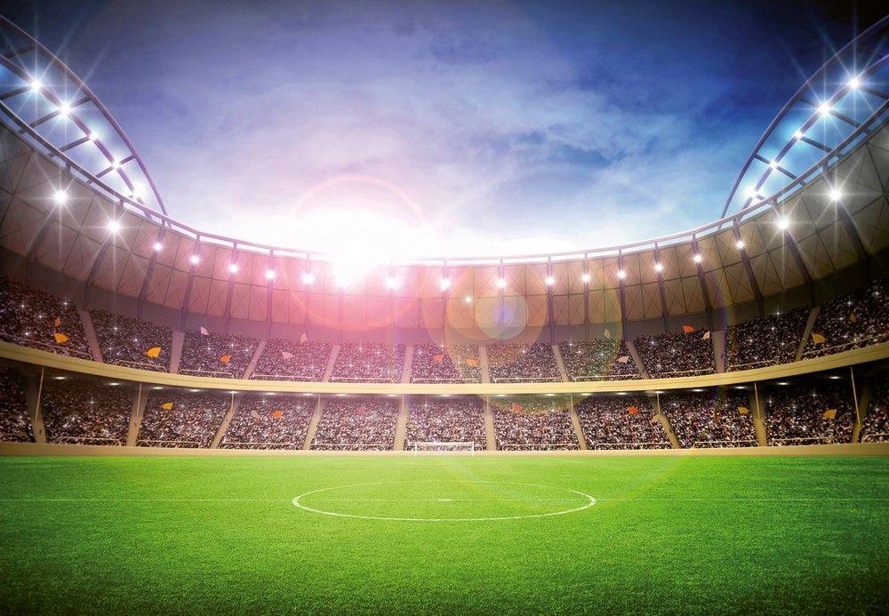 Football Stadium At Night Wall Mural Wallpaper Wall Murals Football Stadiums Stadium Wallpaper