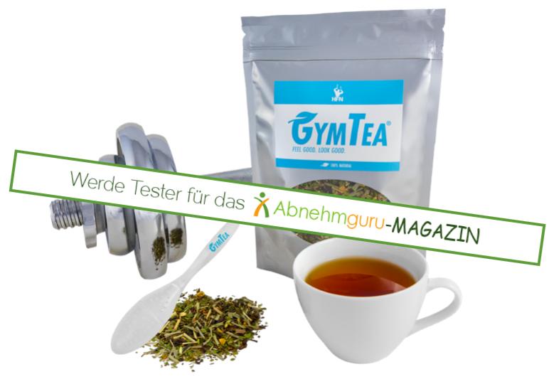 GymTea regt den Stoffwechsel an und unterstützt die Fettverbrennung. Wir suchen 5 Tester für jeweils eine Packung GymTea und ein Teesieb. Ausschreibung vom 22.04.2015-29.04.2015. Nähere Infos gibt es hier: http://www.abnehmguru-magazin.de/gymtea-test/