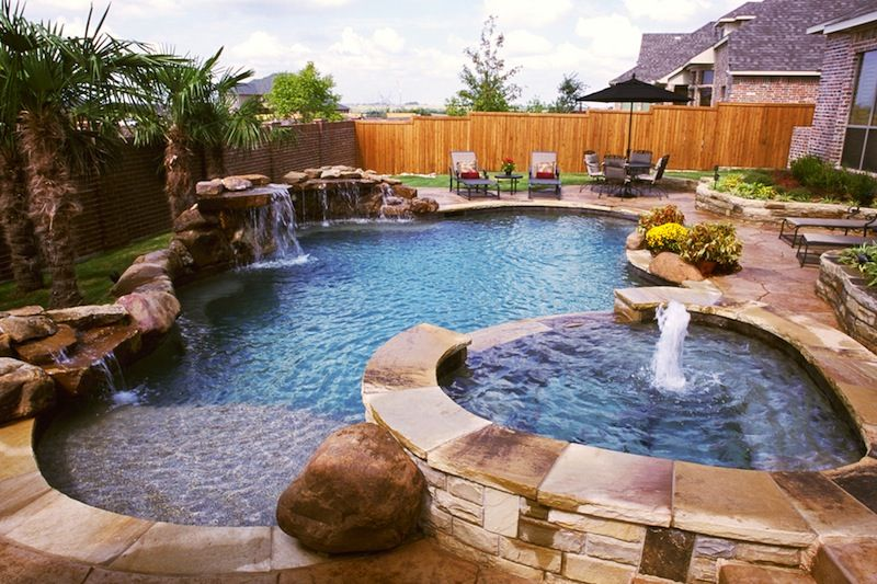 20 Amazing In-Ground Swimming Pool Designs, Plus Costs |Small Freeform Pools With Waterfalls
