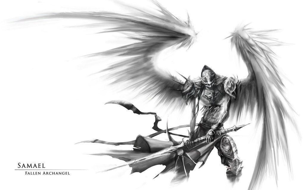 Archangel Samael | Free Download Fantasy Art Angel Wings