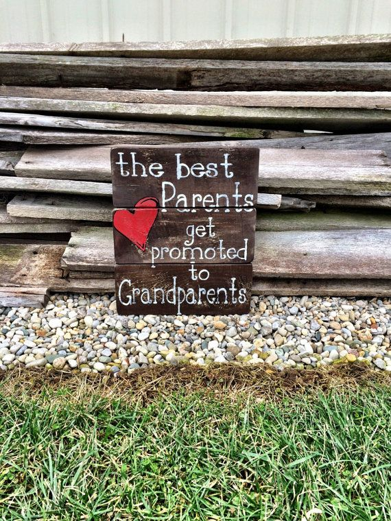 The Best Grandparents Get Promoted To by CharmingWillows on Etsy