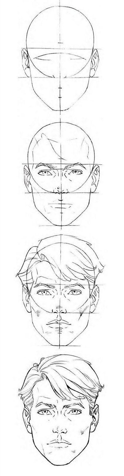 Zeichne ein Gesicht  - Face Drawing #pencildrawingtutorials