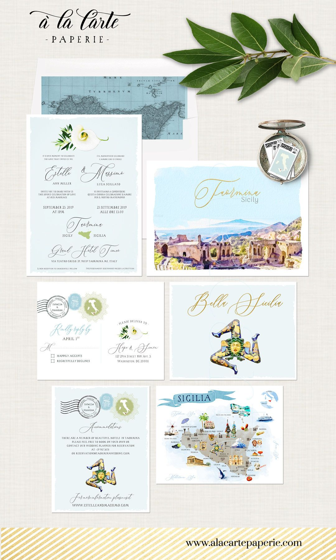 Sicily Taormina Italy Italian Sicilian Destination Wedding