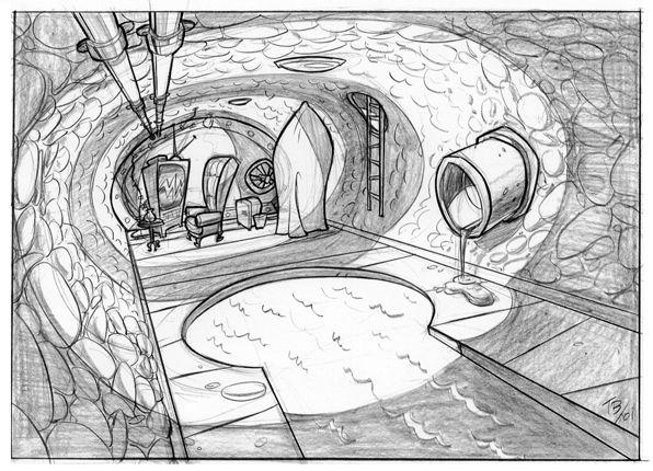 Tom Bancroft: Projeto de caráter, ilustração, animação | Layout / Ambientes