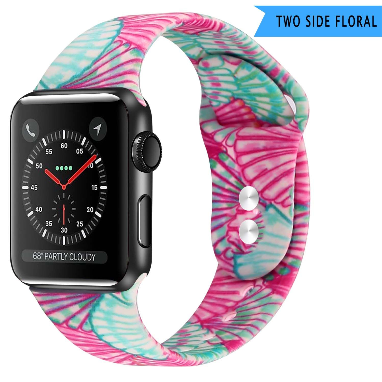 Apple Watch Series 5 4 3 2 Band, Lily inspired Sport Band