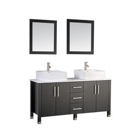 Mtd Vanities 71 In Espresso Vessel Double Sink Bathroom Vanity